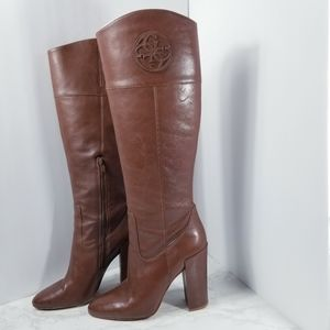 Guess Gedalen Brown Leather Knee Height Boots